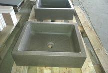 Arredo bagno / Arredo bagno in pietra, basalto e biancone