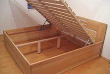postele z masivu s úložným prostorem / postele z masivu s úložným prostorem