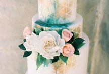 Rose Gold + Gold + Silver Compote Floral Ideas