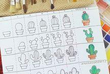 kaktusz rajzolás