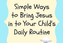 Kid Walking with Jesus Ideas