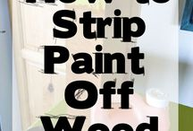 How to strip wood of paint