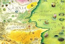 Maps of fictional places in literature