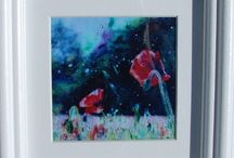 "Poppy Power / Limited edition signed and framed poppy prints, £30 to include UK postage. 6""x6"" size."