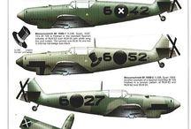 Aircraft Profiles / disegni di profili aerei cut away grawing