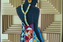 Quilled African lady