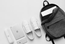 Flat-lay backpacks