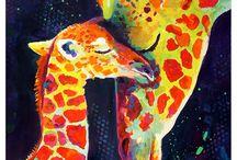 girafes-original-peinture-traditionnelle