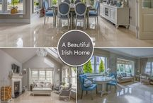Crema Marfil Marble Tiled Floors / These exquisite polished cream marble floor tiles are from TileStyle, Dublin.