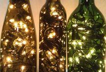 bottiglie con luce