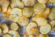 These are homemade potato chips. Photo and recipe by Irvin Lin of Eat the Love. www.eatthelove.com / Potato Chips.