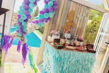 """Mesas dulces sirenas """" mermaids"""" / Mesa dulce y decoración marina y sirenas"""