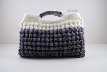 Crochet bags and bowls