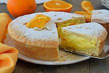 torta dalla nonna con crema alla arancia facile