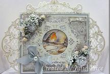 sobres y tarjetas decorados / elaboración de sobres y tarjetas de presentación con materiales sencillos