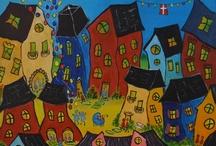 Paintings by Margrethe Grønkjær Andersen / Her viser jeg nogle af mine malerier. Du kan også besøge min hjemmeside: http://www.bricksite.com/gallerimynte, hvor du kan se hvilke malerier, der er til salg