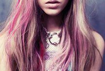 Cheveux avec craie-Hairchalk