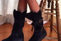 botas negras con plateforma