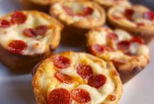 Mini pizzas  muffin size