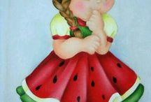 Fruit dress dolls