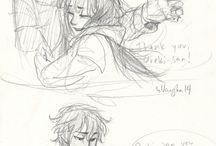 abrazo en dibujo