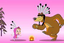 medvěd a máša