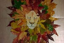 lion feuille