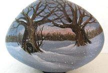 ζωγραφικη ντεκουπαζ σε πετρες