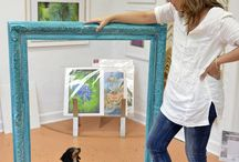 Green Frame Ideas! / Ever wonder what to do with your old frames? While they're not always useful in conservation grade framing, they can be a ton of fun to decorate with, so don't toss them: here are some great ideas on how to put them to good (new) use!