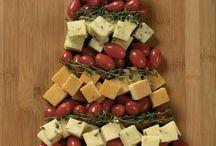 Christmas decor and snacks