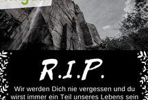 R.I.P. / Einfühlsame Trauersprüche mit schönen und herzlichen R.I.P.-Bildern