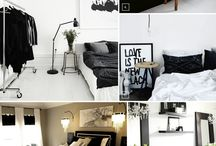 Black n White Bedrooms