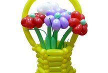 Корзины и вазы для цветов из воздушных шаров / Авторские модели корзин, ваз и подставок для цветов из воздушных шаров. Ссылки на инструкции по изготовлению.