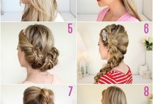 Hair designs / Pretty hair for party's and special  Occasions