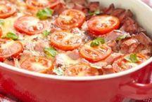 gratin de poivrons/tomates