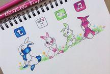 Kresby socielné siete / Tu si môžete pozrieť napríklad snapchcat- obrázok dievča oblečené a podobá sa na snapchat :)