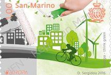 Cod. 628: Europa - Think green / Emissione filatelica di UFN - San Marino del 10 marzo 2016