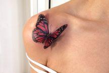 3d vlinder tattoe