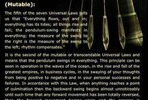 Universal laws / Leis do Universo