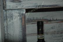 Szafka z palet na wino
