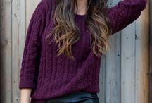 Модный свитер аранами