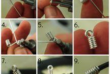 vázání drátků