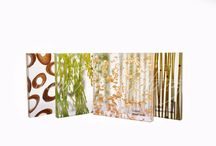 Resin panel with organic flowers, grass, bamboo for interior design / Decorative acrilic panels with organic flowers, leaves, grass, bamboo, river stone in resin for home decoration