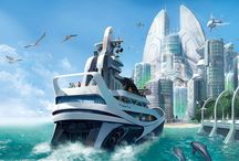 Utopia / All about futuristic concepts. architecture and buildings.