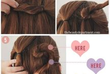 Love is in the Hair / Hairstyle ideas for Valentine's Day.