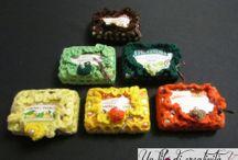 Porta saponette all'uncinetto / Saponette profuma biancheria fatte a mano all'uncinetto - laundry soap smells