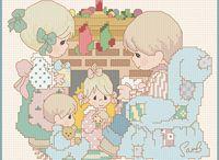 Cross-stitch---Precious Moments