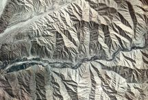 Hillshades / Hillshades or images that illustrate hillshades such as satellite images or aerial imagery.