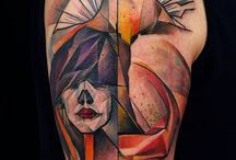 abstract/watercolor tattoos