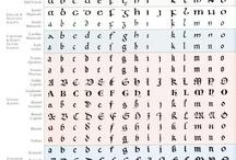calligrafia, caratteri tipografici e altro